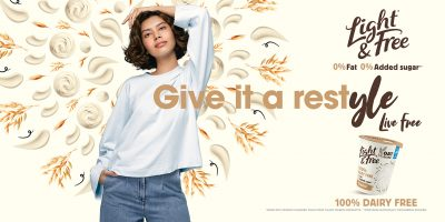 """""""Light & Free"""" campaign poster.   Shot for Danone."""
